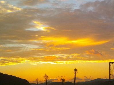 2012年10月18日の黄金の夕焼け