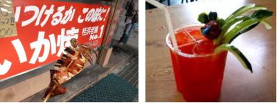 桂浜のイカとジュース