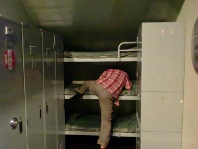 潜水艦の寝室