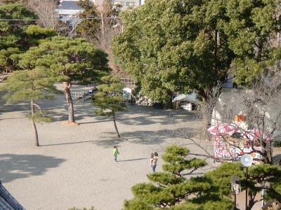 高知城から下を見る